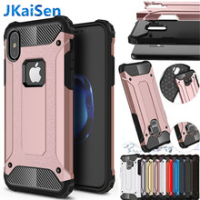 Strong Hybrid Tough Shockproof Armor Phone Back Case for iPhone 5 5S SE 6 6S 7 8 Plus X XS XR MAX Hard Rugged Impact Cover Cases(China)