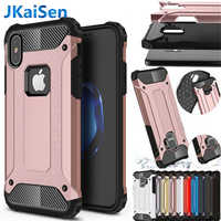 Strong Hybrid Tough Shockproof Armor Phone Back Case for iPhone 5 5S SE 6 6S 7 8 Plus X XS XR MAX Hard Rugged Impact Cover Cases