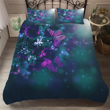 A Bedding Set 3D Printed Duvet Cover Bed Set Butterfly Home Textiles for Adults Bedclothes with Pillowcase #HD12 rcf cover hd12 транспортный чехол для hd 12 32 a