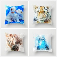 Fuwatacchi Dog Cat Pet Tiger Cushion Cover Animal Pillow Case Decorative Throw Pillowcase Sofa Home