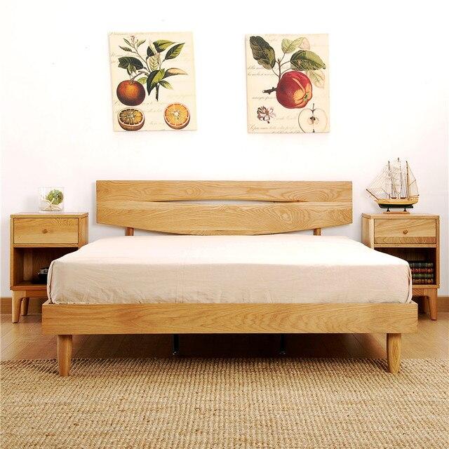 B23 salvaje de roble de madera de roble blanco cama Nordic ambiental ...