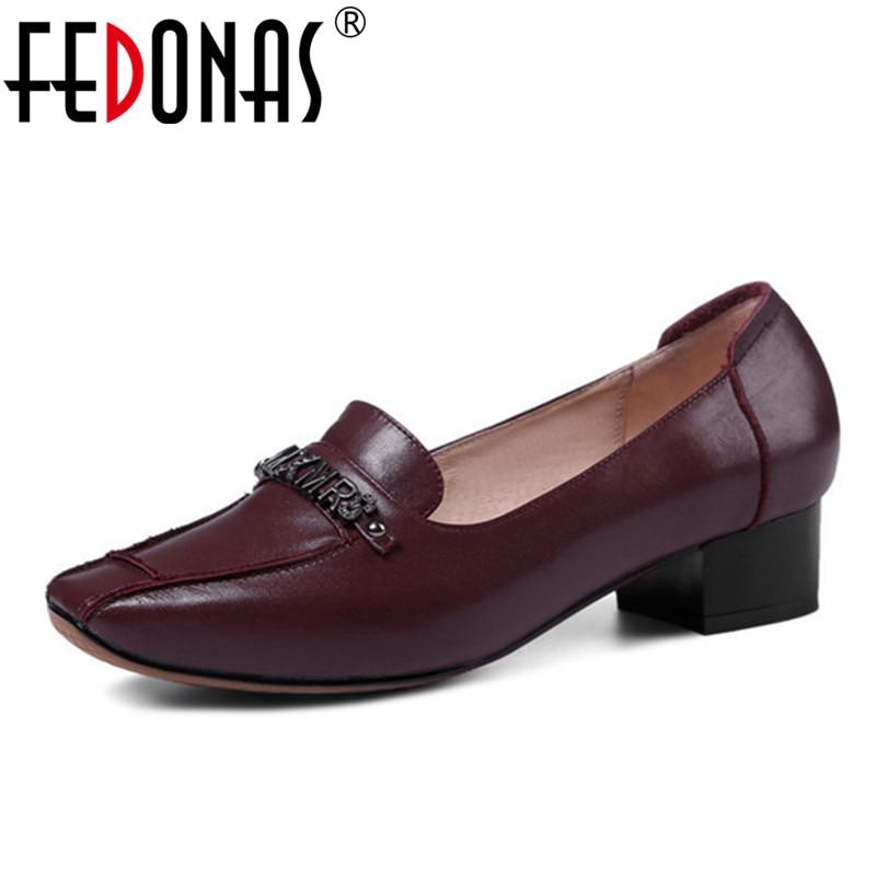 FEDONAS 2020 Marke Frauen Flach Retro Echtem Leder Schuhe Frau Komfort Casual Pumpen Arbeits Hochzeit Damen Schuhe Pumpen-in Damenpumps aus Schuhe bei  Gruppe 1