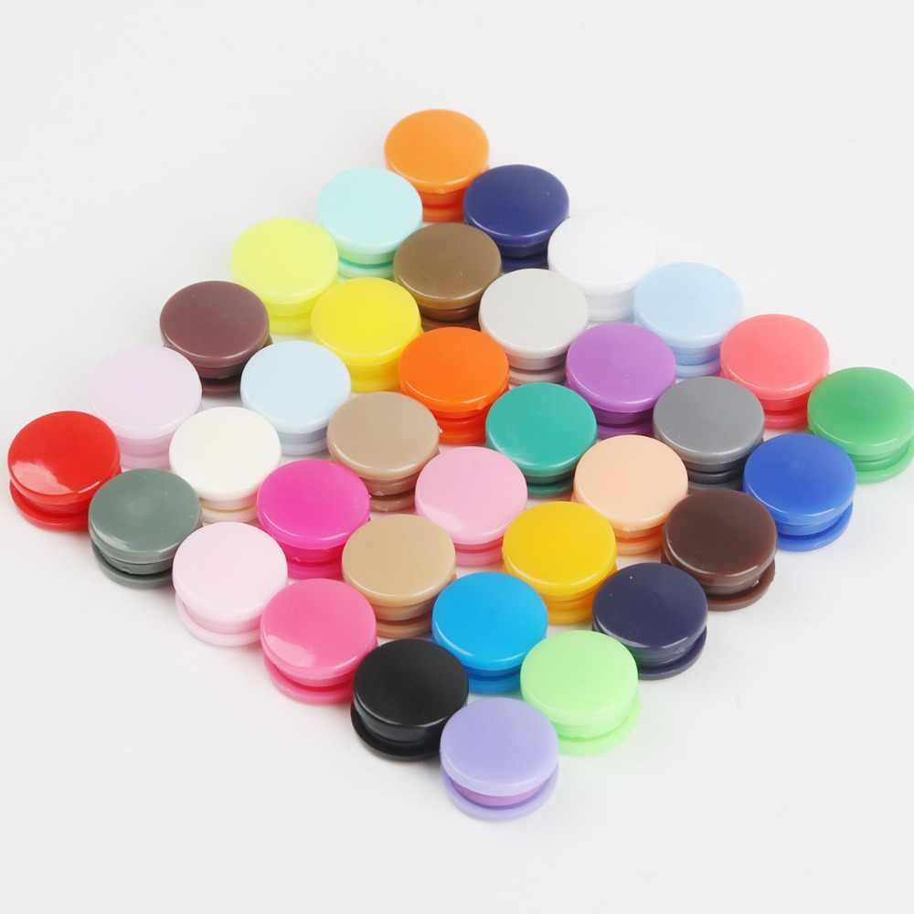 20 zestawów KAM T5 12MM okrągłe plastikowe zatrzaski przycisk łączniki kapa na kołdrę arkusz przycisk dodatki do odzieży na klipsy do ubrań dla dzieci