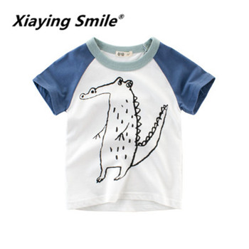 XIaying Smile Kids Summer Kids Boys Short Sleeve T-shirt Children's Clothing Chaobao clothes can be wholesaled