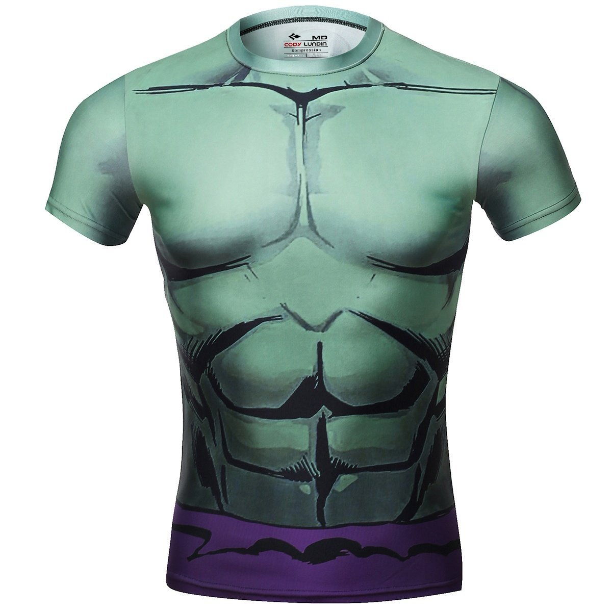 Red Plume Compression Armor Sports Fitness Shirt, Avengers Hulk T-shirt