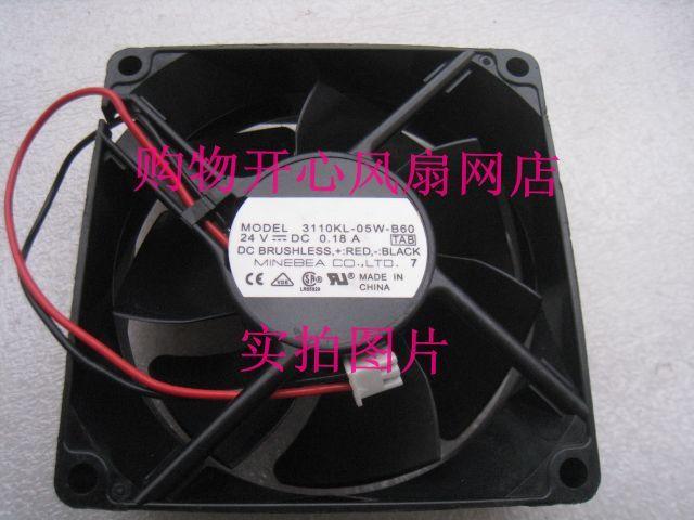 NMB MAT 3110KL 05W B60 TAB DC 24V 0.18A 2 Wire 80x80x25mm Server Cooler Fan