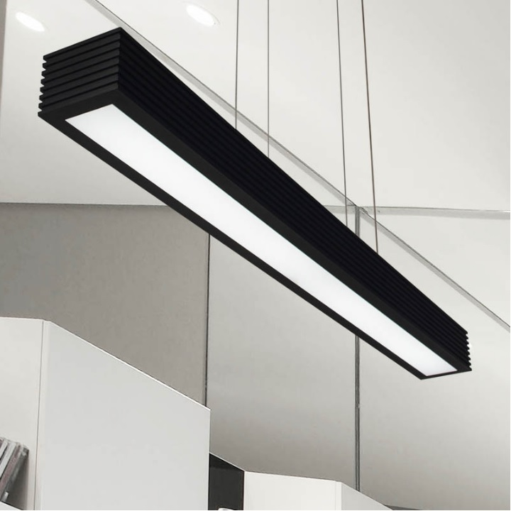 120cm 18Watt Linear Suepension LED Lights for Working Station  Kitchen Island / 100x75mm Aluminum Profile120cm 18Watt Linear Suepension LED Lights for Working Station  Kitchen Island / 100x75mm Aluminum Profile
