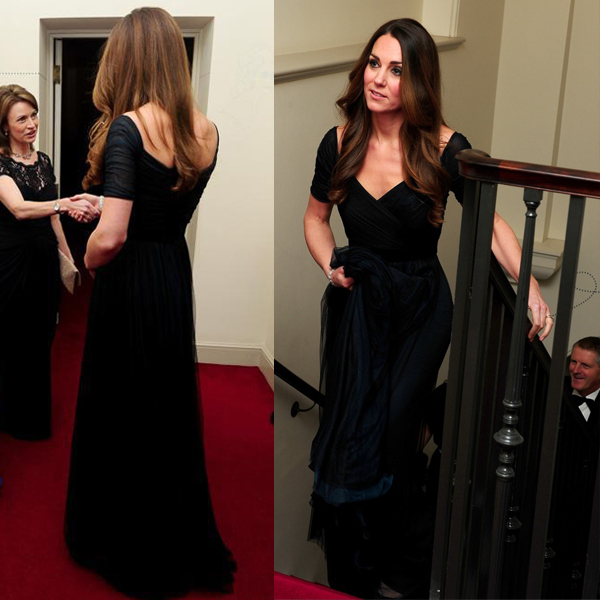 Kate Middleton Black Evening Dress