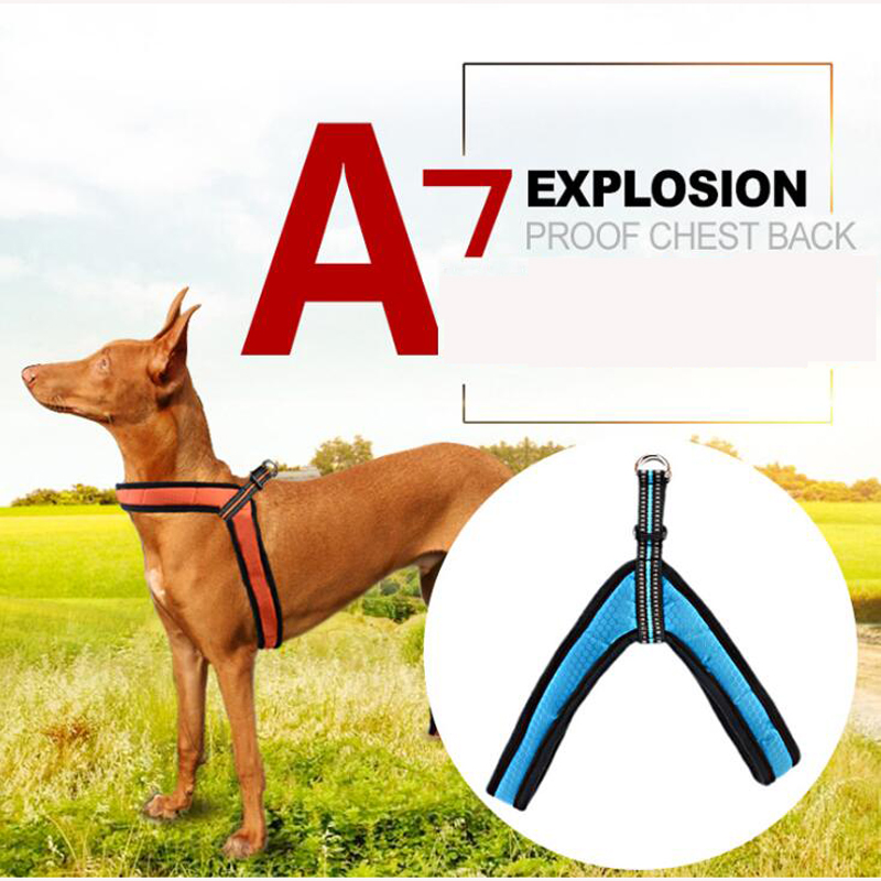 Reflective Dog Harness Pet Breathable Soft Reflective Chest Straps For Large Meduim Dogs Night Safety Supplies
