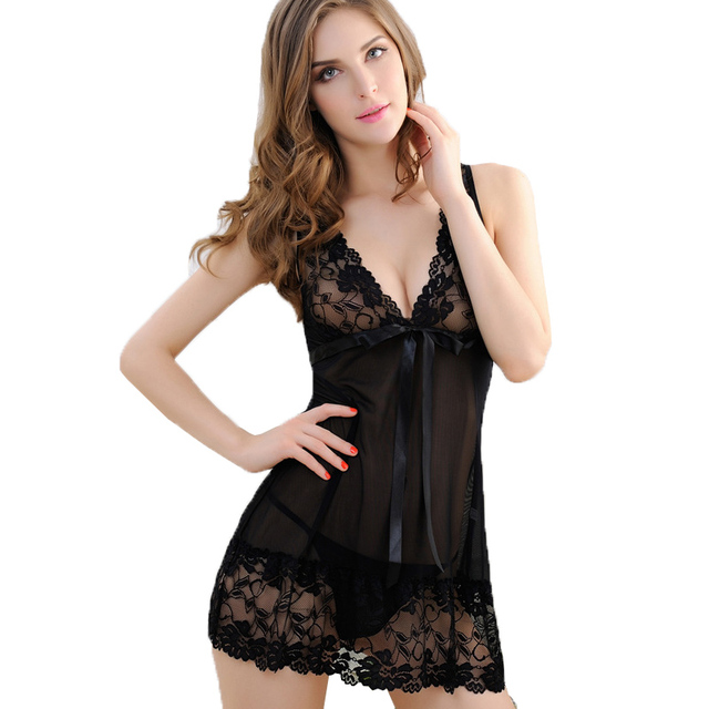 Lace Nightgown Women Sleepwear Pyjamas Summer Negligee Babydoll Nightwear Sexy Lingerie Bathrobe Female Nightdress Home Clothes 3