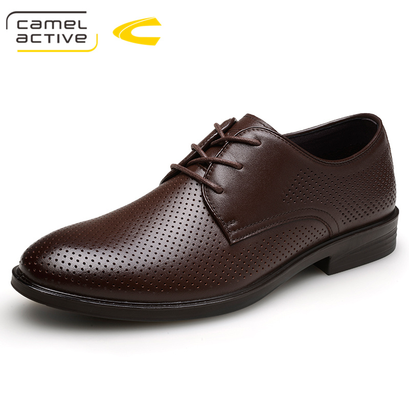 Camel Active Hot Sale Men's Shoes Genuine Leather Holes Design Breathable Shoes Spring Autumn Business Men Sapatos Masculinos все цены
