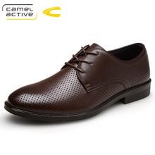 Camel Active Лидер продаж Мужская обувь Пояса из натуральной кожи отверстия Дизайн дышащая обувь Демисезонный Бизнес Для мужчин Sapatos Masculinos