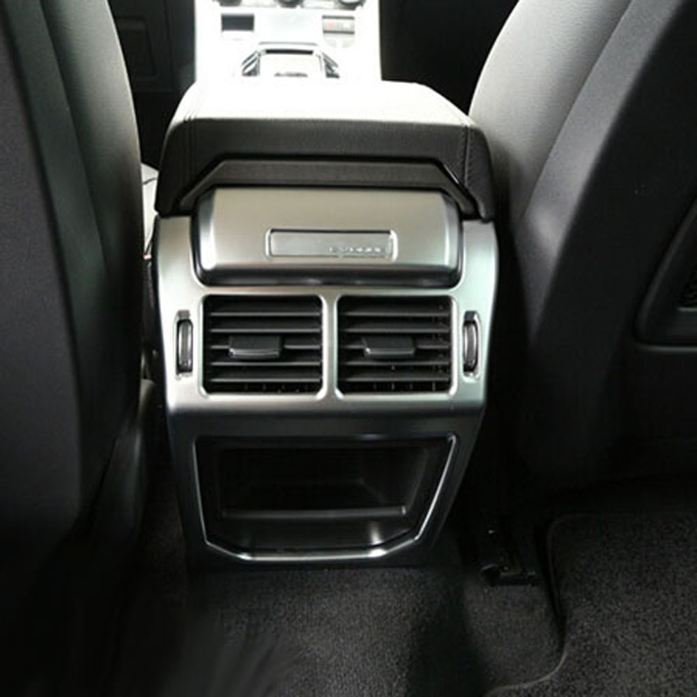 armrest back rear row passenger air conditioner outlet vent cover trim sticker for land range rover evoque Interior accessories center armrest rear back row passenger air vent decorative cover sticker trim for range rover evoque interior accessories