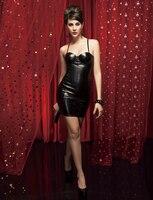Trasporto libero reggiseno forma del corpo sottile pvc corsetto moda sexy club Dress plus size sml xl hot rosso elegante nero
