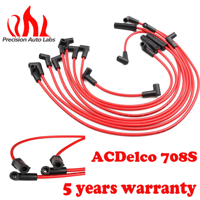 precision auto labs ignition cable spark plug wire boot set chevy camaro  5 0l 5 7l