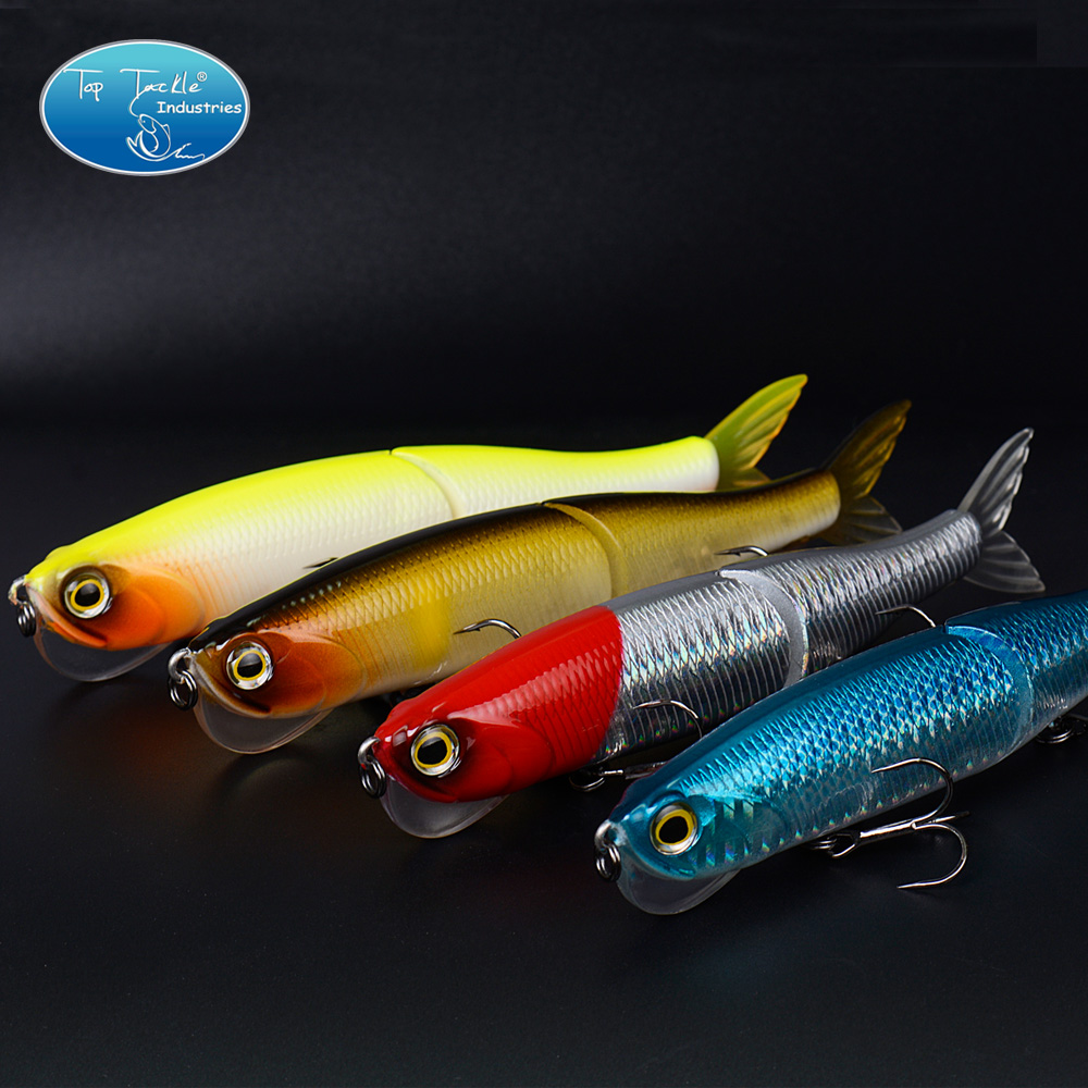 High Quality 2-Segement Jointed Bait Swim baits Crystal Mouth with Soft tail Fishing Lure 140MM/29G
