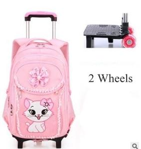 Image 3 - Plecak szkolny na kółkach plecak dla dziewczynek plecak na kółkach torba na kółkach dla dzieci plecak szkolny dla dzieci na kółkach torby na kółkach
