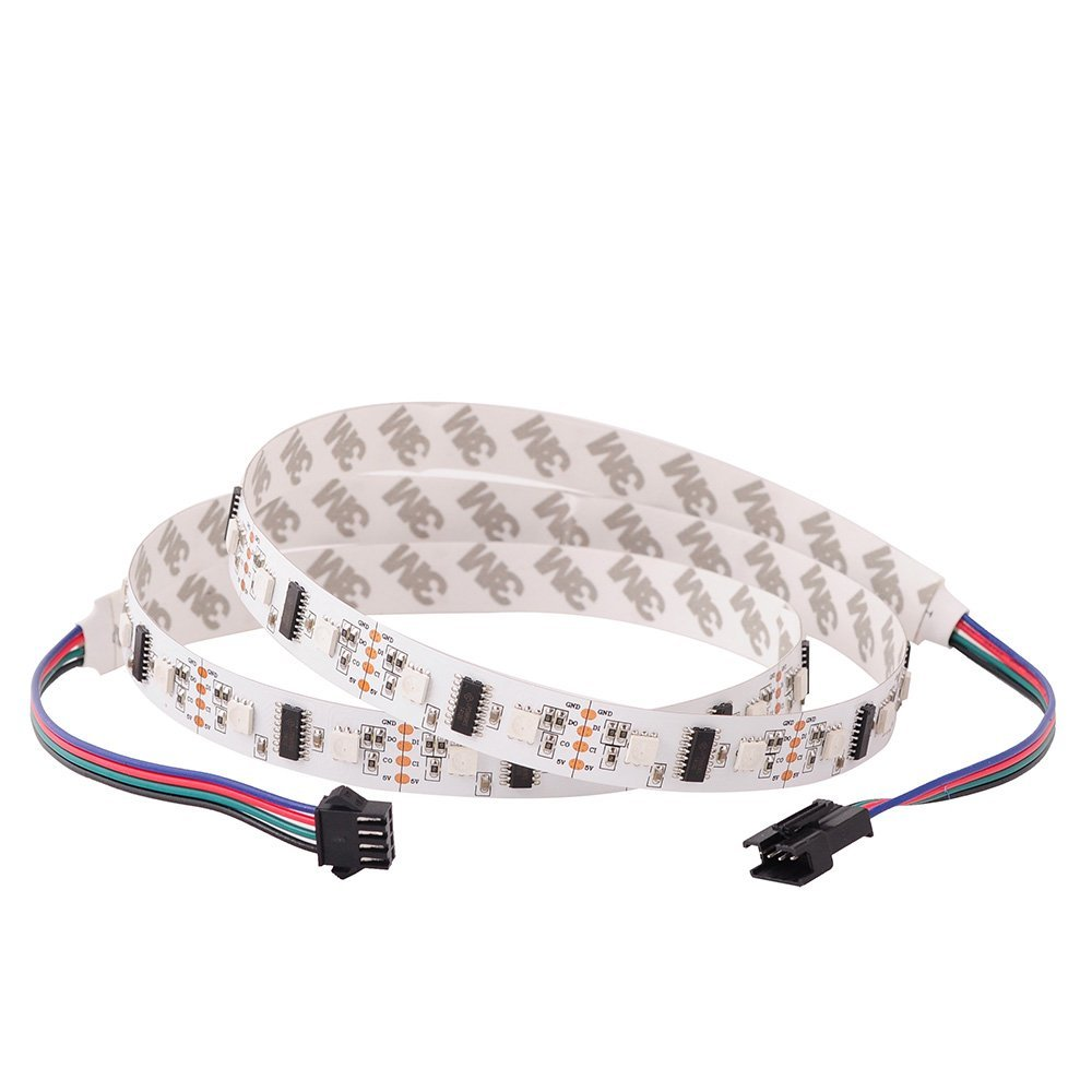 Mokungit 5x1M LPD8806 32 LEDs/m 5050 RGB SMD Light Strip Tape Pixel IP20 Non-Waterproof IP65 IP67 White/Black PCB DC5V
