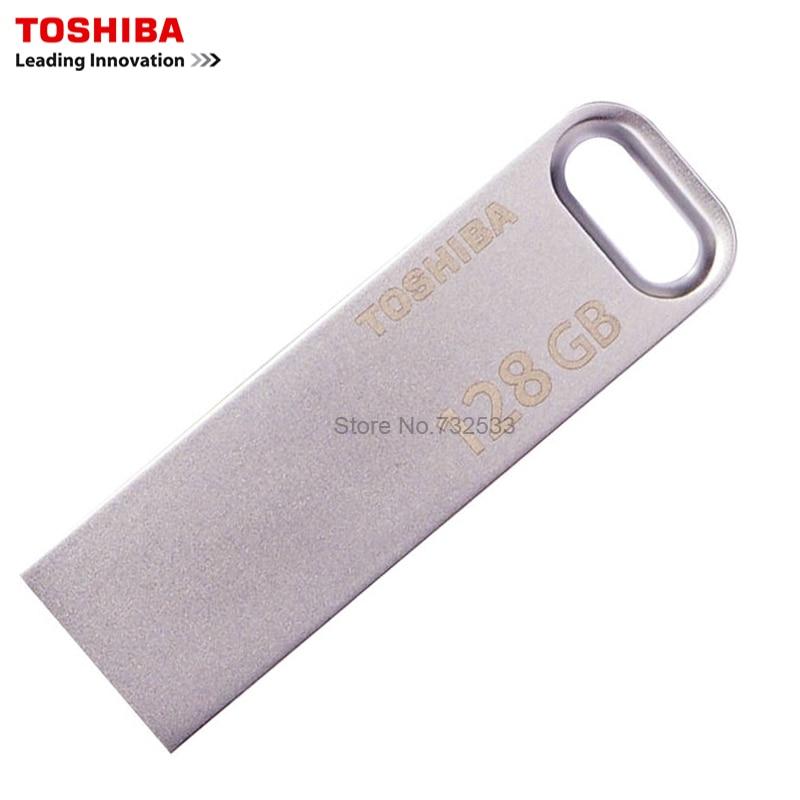 TOSHIBA USB3.0 U363 USB Flash Drive 128 GB GB 32 64 GB Anel da Vara da Pena Pen Drive usb Chave de Metal À Prova D' Água driver de Dispositivo De Armazenamento EM Disco U
