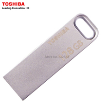 TOSHIBA USB3 0 U363 USB Flash Drive 128GB 64GB 32GB Metal Waterproof Pen Drive Key Ring