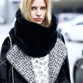 [AETRENDS] Good Quality Faux Rabbit Fur Scarf Collar Ring Women Winter Neck Dirl Circle Scarves Apparel Accessories Z-2121