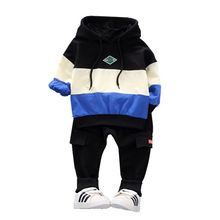 Spring Infant Clothing Kids Sports Splice Hoodie T Shirt Pants 2pcs/Sets Children Toddler Tracksuit Baby Boys Girs Clothes Suit