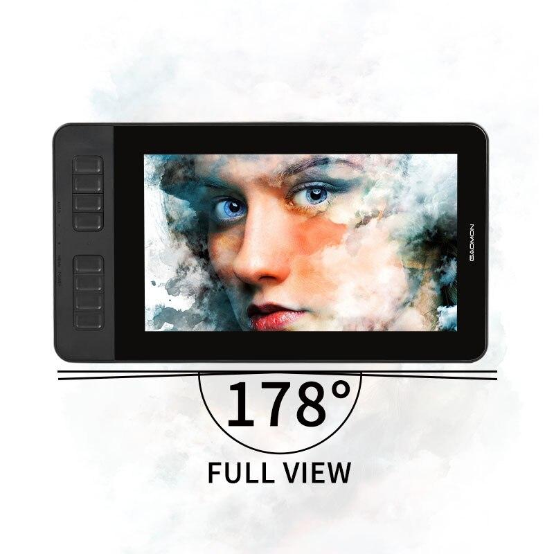 Image 3 - GAOMON PD1161 ips HD графический планшет монитор дисплей с 8192 уровнями ручка без батареи и регулируемая подставкаЦифровые планшеты    АлиЭкспресс