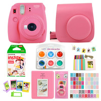 Fujifilm Instax Mini 9 Instant Printing Camera With Film Photo Paper Camera Protection Case Bag Accessories Bundle