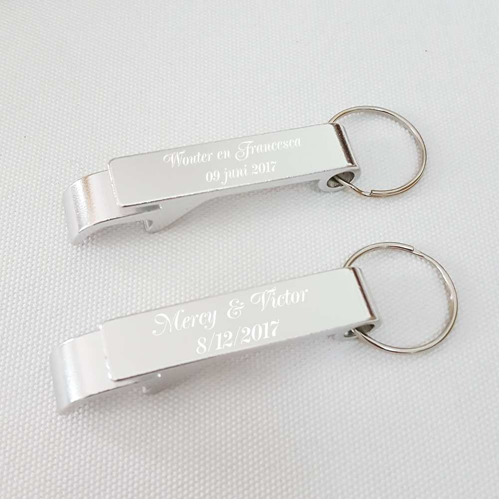 Personalised Wedding Favour Silver Key Ring Bottle Opener Keychain ...