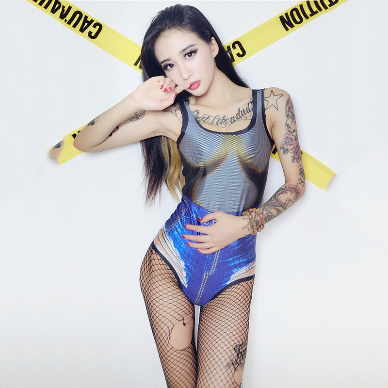 Sexy Dance Costume Women Dj Rave Clothes Stage Wear Pole Dance Performance Clothing Nightclub Jumpsuit Ds Gogo Bodysuit Dc1993 Novelty & Special Use Stage & Dance Wear