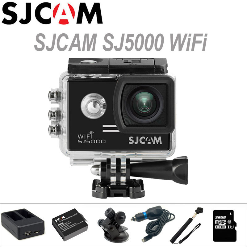 SJCAM SJ5000 WiFi Action Camera 1080P Full HD 2 inch Screen Diving 30M Waterproof mini Camcorder Original SJ 5000 Cam Sports DV купить