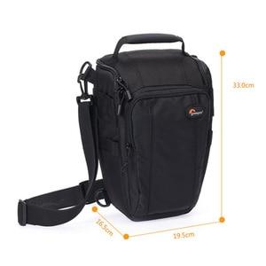 Image 5 - Lowepro do monitorowania Zoom 55 AW lustrzanka cyfrowa kamera trójkąt torba na ramię osłona przeciwdeszczowa przenośne talii na futerał dla Canon Nikon