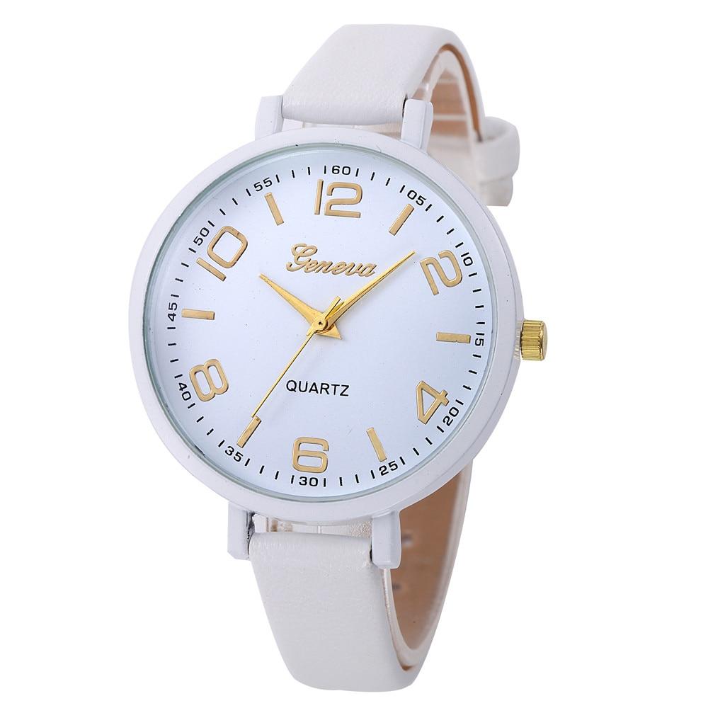 New Women Casual Checkers Faux Leather Quartz Analog Wrist Watch Ladies Classics relogio feminino elegant Simple Gifts F80