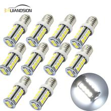 10pcs 2.5W High Quality 6V Screw E10 12v LED Indicator Signal lamp light Bulb 18 SMD 2835 LEDs Rear White Bulb 360lm 1 2 4 pcs new rushed lamp 2835 smd 1 led bulb dc 6v volt white mes e10 1447 screw for torch bike bicycle free shipping