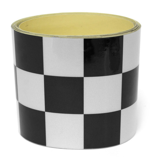 Fanxoo 275*7.6cm Decal Tape Black White Checkered Vehicle Sticker Vinyl Wrap For Car