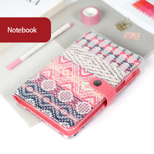 2019 novo vintage antigo estilo nacional retro capa de tecido escritório anel binder planejador semanal organizador laticínios notebook a5 a6