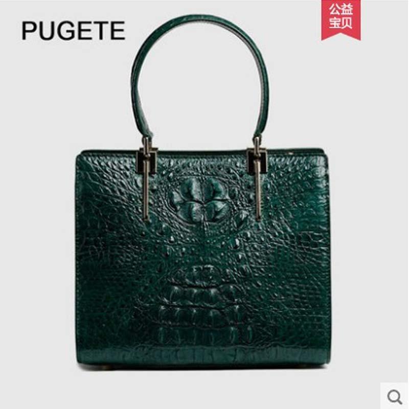 pugete 34/5000   The new 2019  Thailand import  Crocodile leather lady's bag fashionable princess Diana bag leather women bag