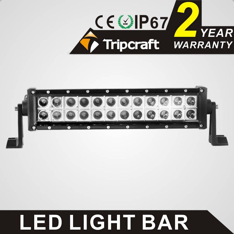 TRIPCRAFT 72W led work light bar 6120lm for Off Road Indicators Work Driving Offroad Boat Car Truck 4x4 SUV ATV Fog lamp 6000k 5inch 72w two rows led light bar modified off road lights roof light bar for car vehicles suv