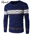 Nuevo Otoño Invierno Cálido Espesar Pullovers Suéteres de Rayas de Los Hombres Suéter Masculino Ropa de Fitness Camisetas Del O-cuello Ocasional P30