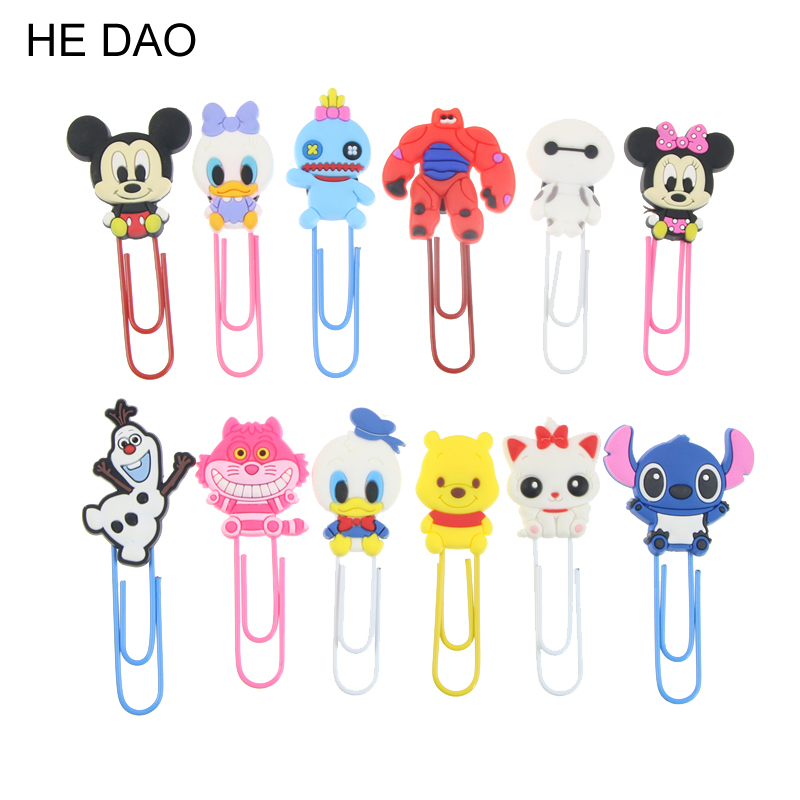 Hot Sales Cute Cartoon Characters Paper Clip Bookmark Promotional Gift Stationery School Office Supply Escolar Papelaria image