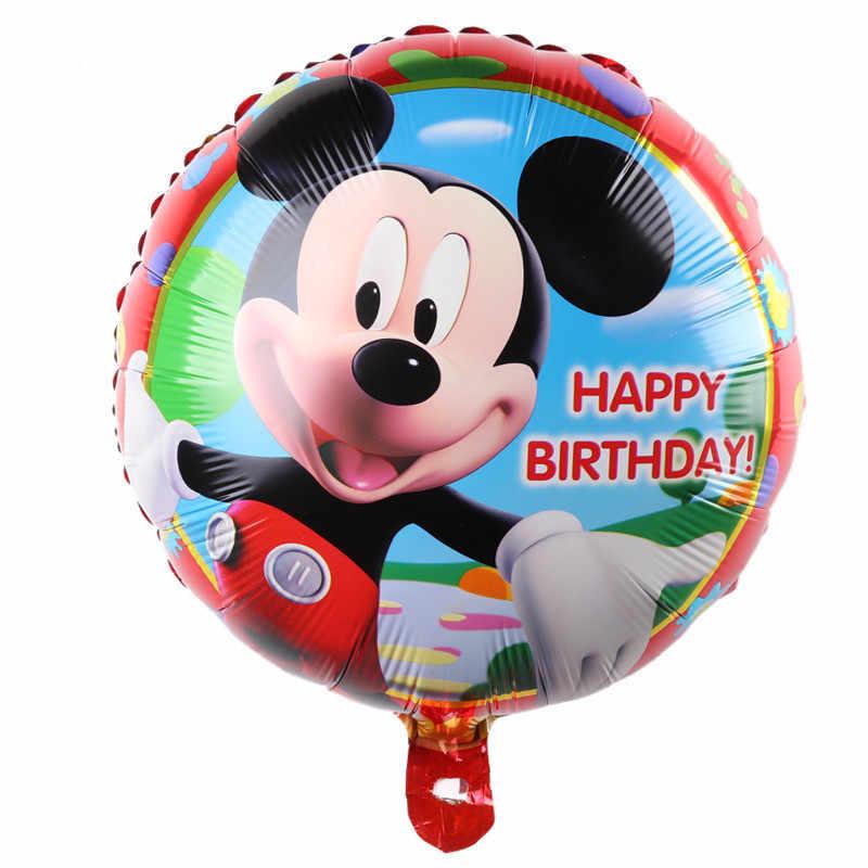 Balões de hélio de alumínio decoração de festa/desenhos animados série mickey minnie feliz aniversário balões por atacado