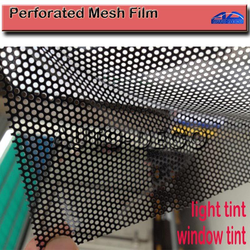 Один из способов видения черный пленка перфорированная сетки оттенок Fly глаз пленка Размер: 1,07x50 м