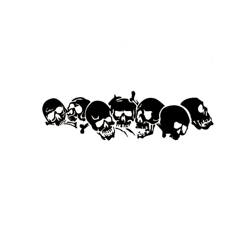 18.3*5.8CM Funny Family Car Stickers Skull Covering The Body Of Fashion Vinyl Decals Black/Silver C7-0959 puzo mario the family puzo