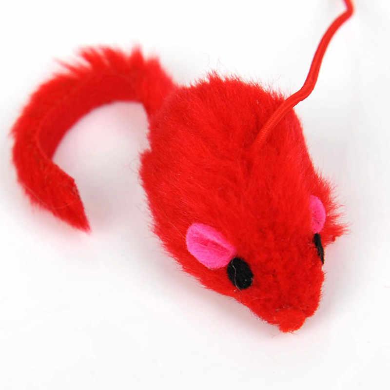 חיות מחמד חתול צעצוע חמוד עיצוב עכבר מקל טיזר שרביט פלסטיק צעצוע חתול צעצועי חתול מחמד מנהרת שומן חתול חמוד