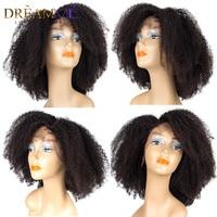 Full Lace натуральные волосы парики для Для женщин бразильский Волосы remy афро странный фигурные Glueless парики шнурка с ребенком волос dreamme волос