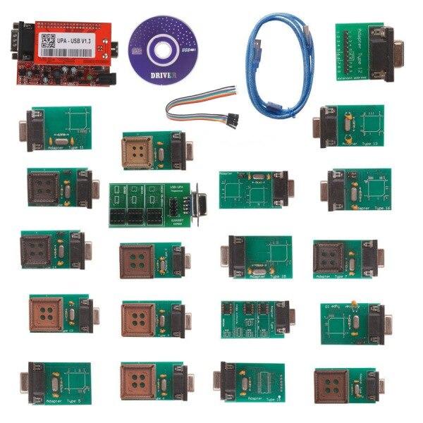 2018 новый полный 20 адаптеры упа USB V1.3 программист UPA-USB V1.3 программное обеспечение ECU чип инструмент настройки полный набор 20 фишек NEC Функция