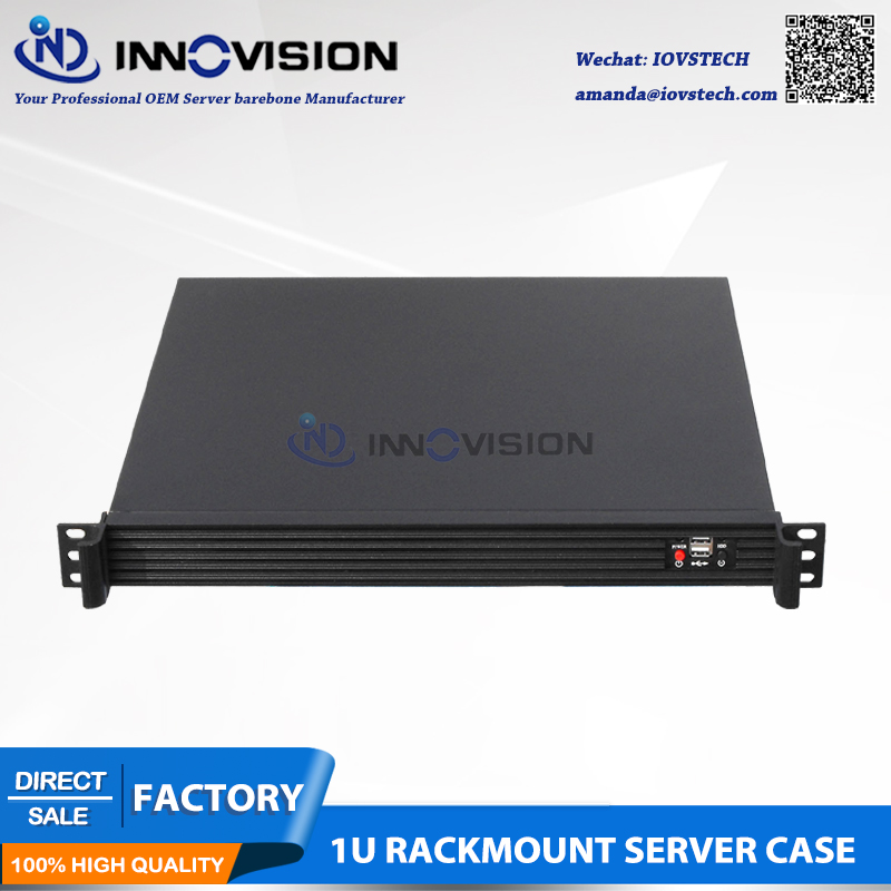 Casing server 1U Compact yang elegan RC1420L casing komputer 1U chassis server rak