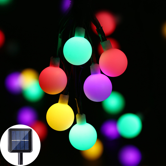 30 led solar string light outdoor solar frosted ball lamp fairy 30 led solar string light outdoor solar frosted ball lamp fairy christmas home decorative light party workwithnaturefo