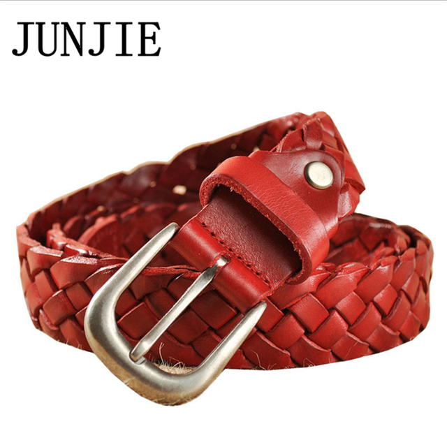 Weaving Belt for Women Cowhide Header Layer Genuine Leather Belt Band  Fashion Knitted Belt Women for 3a91b63bf9