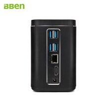 Bben Mini PC Windows 10 Ubuntu Intel X5-Z8350 Quad Core Оперативная память 4 ГБ Оперативная память 64 ГБ Встроенная память Wi-Fi BT4.0 HDMI 2MP Камера мини-компьютер MN-C200